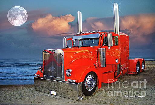 Peterbilt on the Evening Beach by Randy Harris