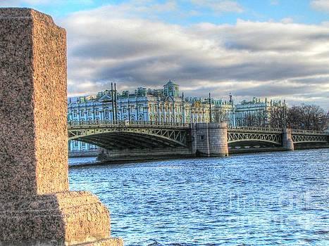 Peterburg Russia embankment of the rivers by Yury Bashkin