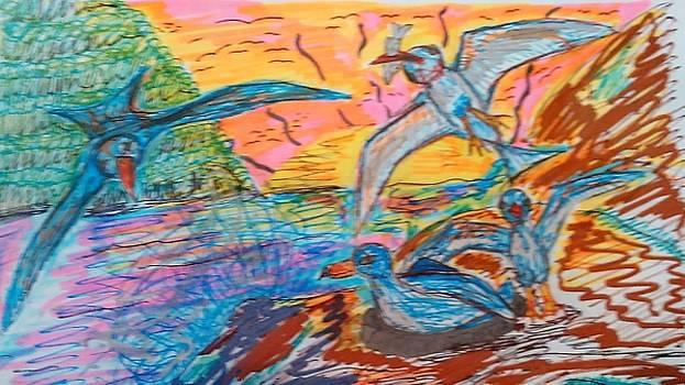 Petrels by Andrew Blitman