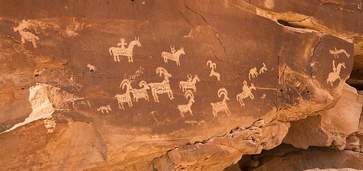 Ute Petroglyphs by Robert Brusca
