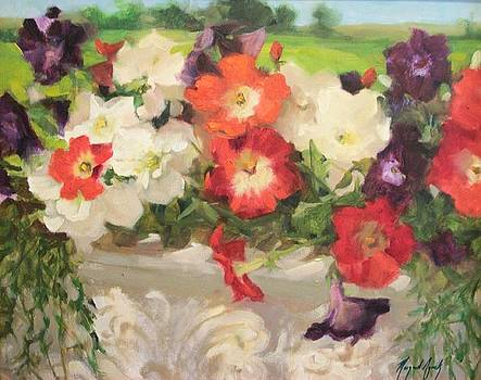 Petunias by Margaret Aycock