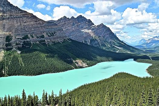 Frozen in Time Fine Art Photography - Peyto Clouds and Sun