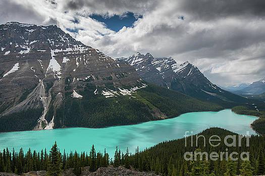 Peyto Lake Cloudscape by Mike Reid