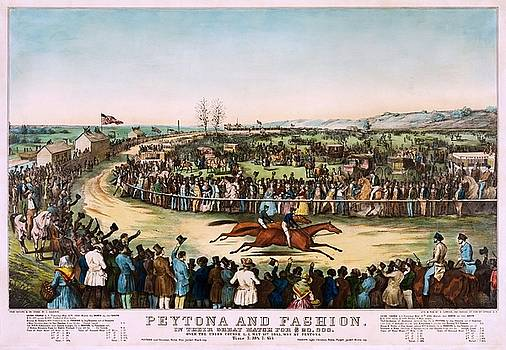 Peytona and Fashion in their great match for $20,000, 1845 by Vintage Printery