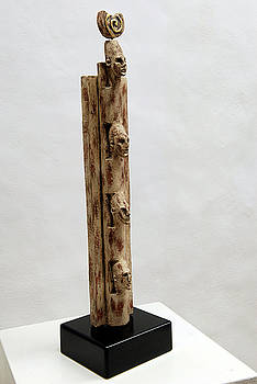 Pharaohs Iconic Cult - Ancestral Stela - Egypt - Egyptian - Pharaohs - Helga Pohlen  by Urft Valley Art