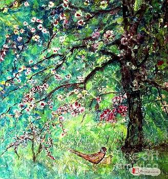 Pheasant in the Orchard by Norma Boeckler