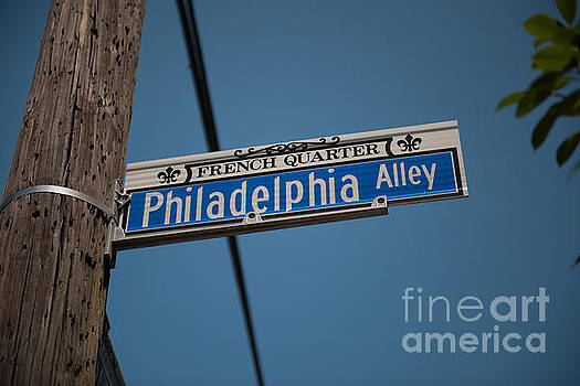 Dale Powell - Philadelphia Alley Street Sign