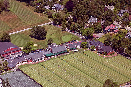 Philadelphia Cricket Club Grass Tennis 415 West Willow Grove Avenue Philadelphia PA 19118 by Duncan Pearson