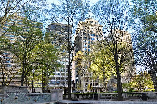 Philadelphia in April - Rittenhouse Square by Bill Cannon