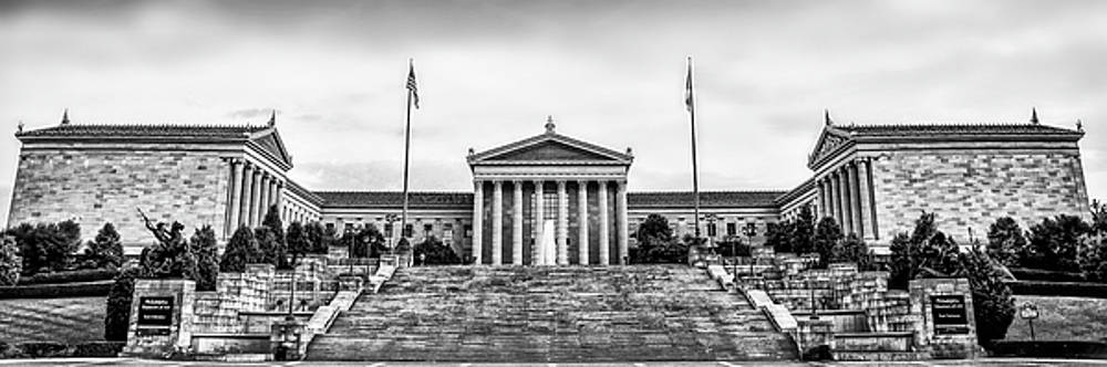 Philadelphia Museum of Art Panorama in Black and White by Bill Cannon