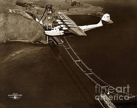 California Views Mr Pat Hathaway Archives - Philippine Clipper a Pan Am Clipper over the Golden Gate Bridge  1935