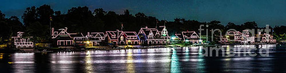 Philladelphia Boathouse Row by Nick Zelinsky