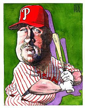 Phillies' Matt Stairs by Robert  Myers
