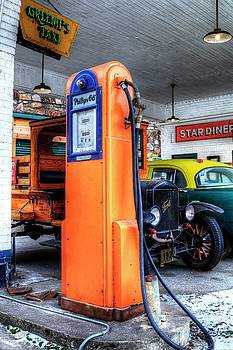 Phillips 66 Gas Pump by Carol Montoya