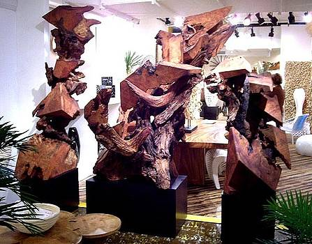 Phillips Collection- High Point North Carolina Redwood Sculptures Gallery Display by Daryl Stokes