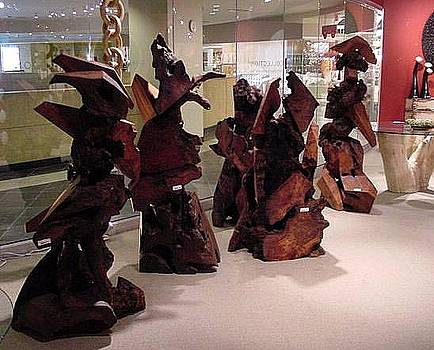 Phillips Collection-Las Vegas Redwood Sculptures Gallery Display by Daryl Stokes