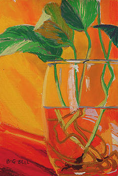 Philodendron in Glass by Betsy Gray Bell
