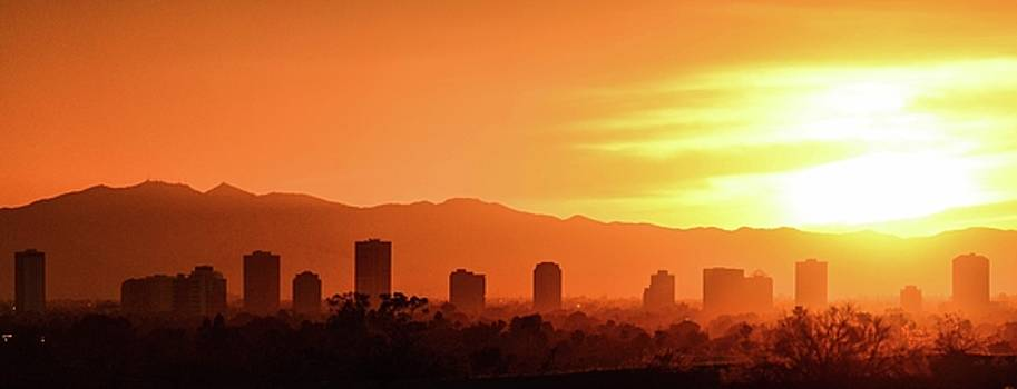 Phoenix Arizona Golden Sunset by Colin Collins