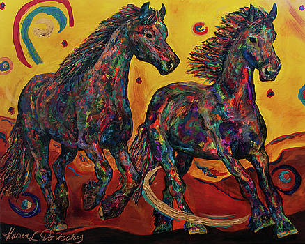 Phoenix Freesians by Karen Dortschy