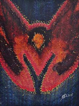 Phoenix Rising original painting by Sol Luckman
