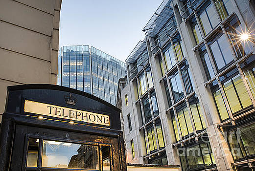Phone cabine in City of London by Deyan Georgiev