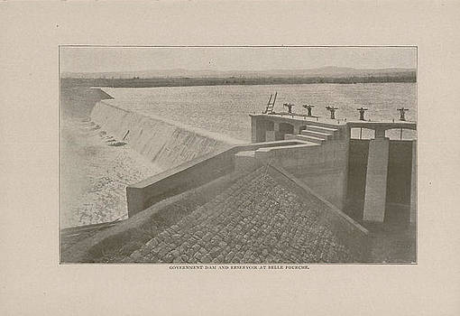 Chicago and North Western Historical Society - Photo of Government Reservoir at Belle Fourche From 1908 Tour Guide