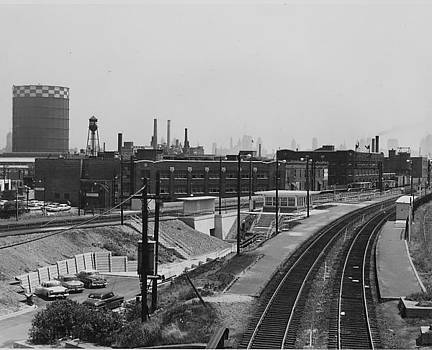 Chicago and North Western Historical Society - Clybourn Junction Station- 1959