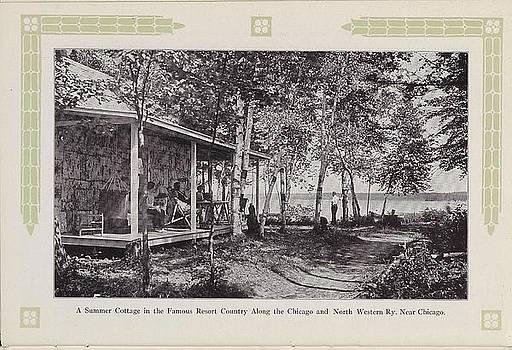 Chicago and North Western Historical Society - Photo of Summer Cottage From 1915 Travel  Brochure
