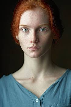 Photo of the beautiful red-haired Russian girl Sasha. by Alexander Vinogradov