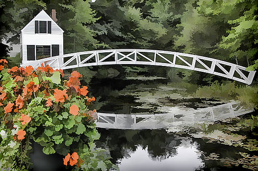 Photo 'sketch' of Somesville Bridge by Ray Summers Photography
