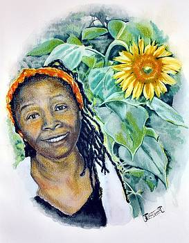 Phyllis - Sunflower Girl by Susan Moore