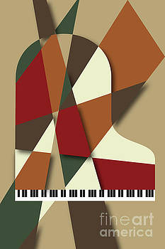 Piano Abstract Autumn by Benjamin Harte