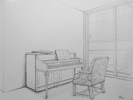 Piano in Perspective by Elizah Monai