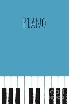 Benjamin Harte - Piano keys on blue
