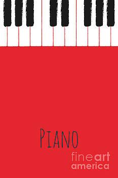 Benjamin Harte - Piano keys on red