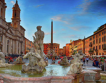 Piazza Navona, Rome Italy by Coleman Mattingly