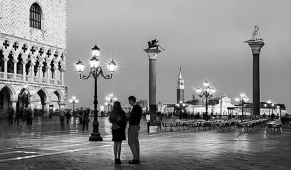 Piazza San Marco at Night - Venice by Barry O Carroll