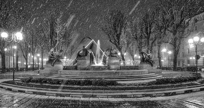 Piazza Solferino in Winter-1 by Sonny Marcyan