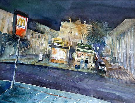 piazza Stesicoro at night by Omar Jaramillo