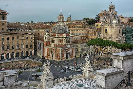 Piazza Venezia Rome by Joachim G Pinkawa