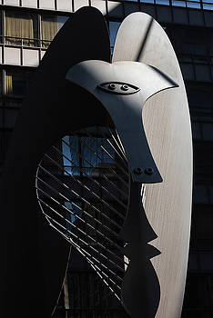 Picasso Sculpture Chicago Morning by Steve Gadomski