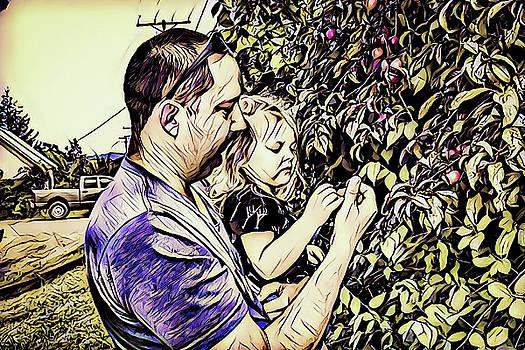 Picking berries by Derek Bratton