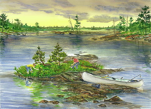 Picking Blueberry Island by Bud Bullivant