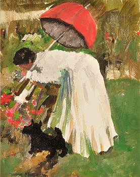 Picking Flowers for the Dinner Table by Harmon Montgomery