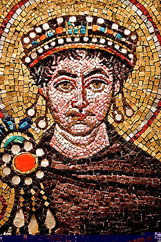 picture of man from Byzantine mosaics in saint sophia mosque turkey by Azad Pirayandeh