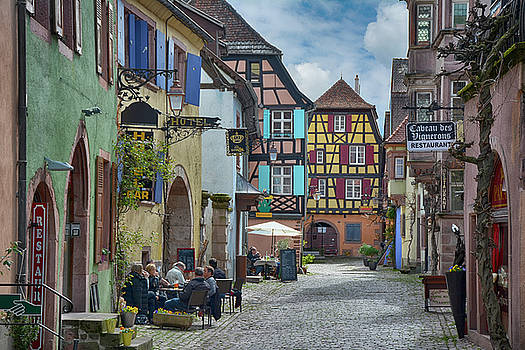 picturesque Alsation Riquewihr II by Joachim G Pinkawa