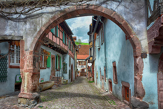 picturesque Alsation Riquewihr by Joachim G Pinkawa