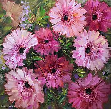 Pieces of Heaven Pink Daisies by Nancy Medina