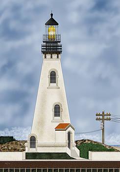 Piedras Blancas Lighthouse in California by Anne Norskog