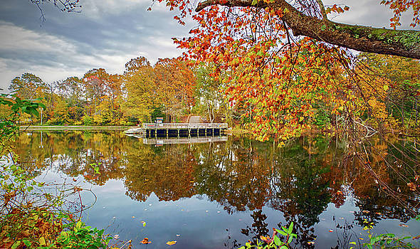 Pier Across The Lake by Brian Wallace